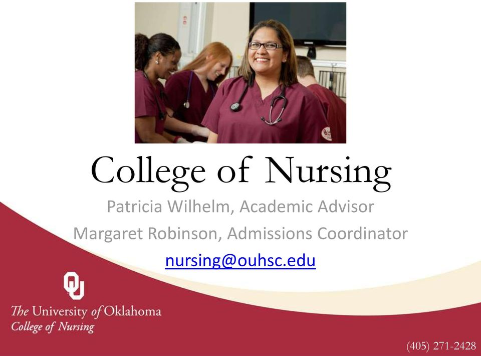 Margaret Robinson, Admissions