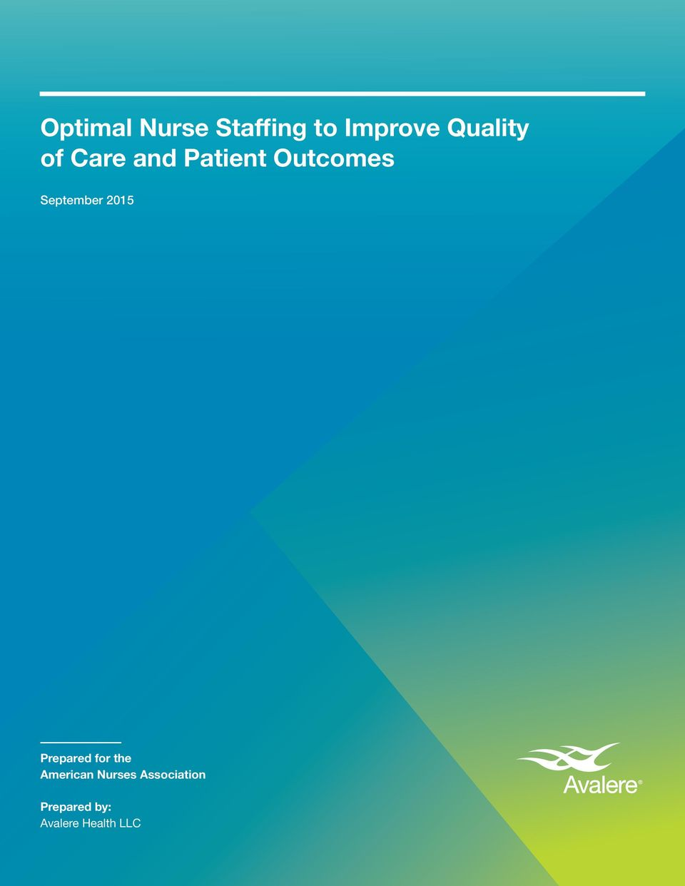 nurse staffing and the quality of Impact of california mandated acute care hospital nurse staffing ratios: a literature synthesis.