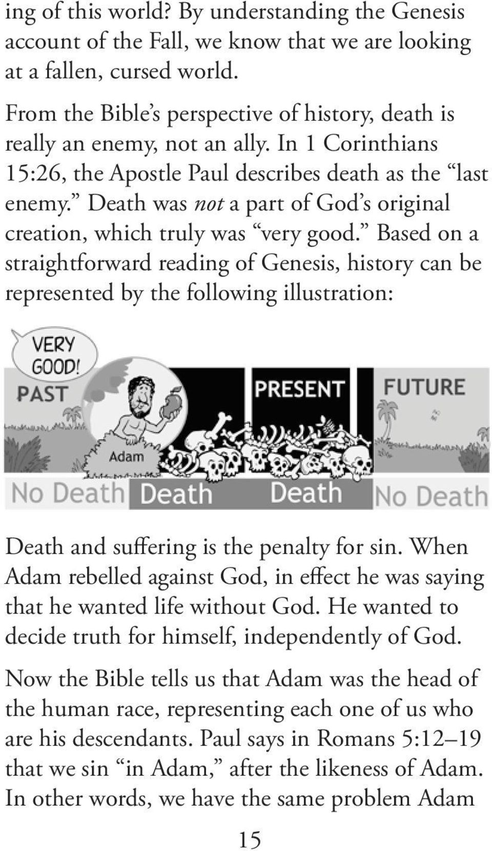Death was not a part of God s original creation, which truly was very good.