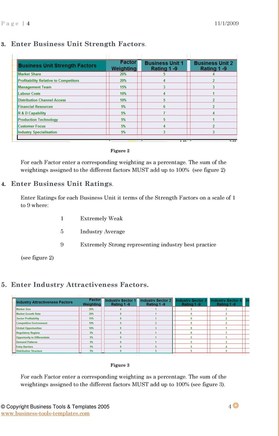 Ge mckinsey matrix ms excel ms word templates user guide pdf enter ratings for each business unit it terms of the strength factors on a scale of pronofoot35fo Gallery