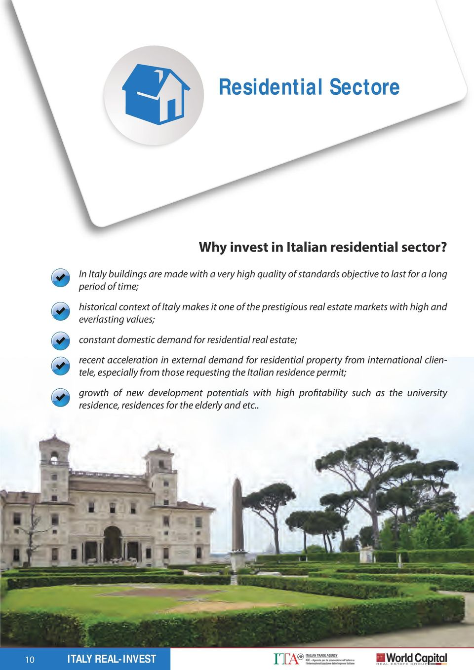 in Italian residential sector?