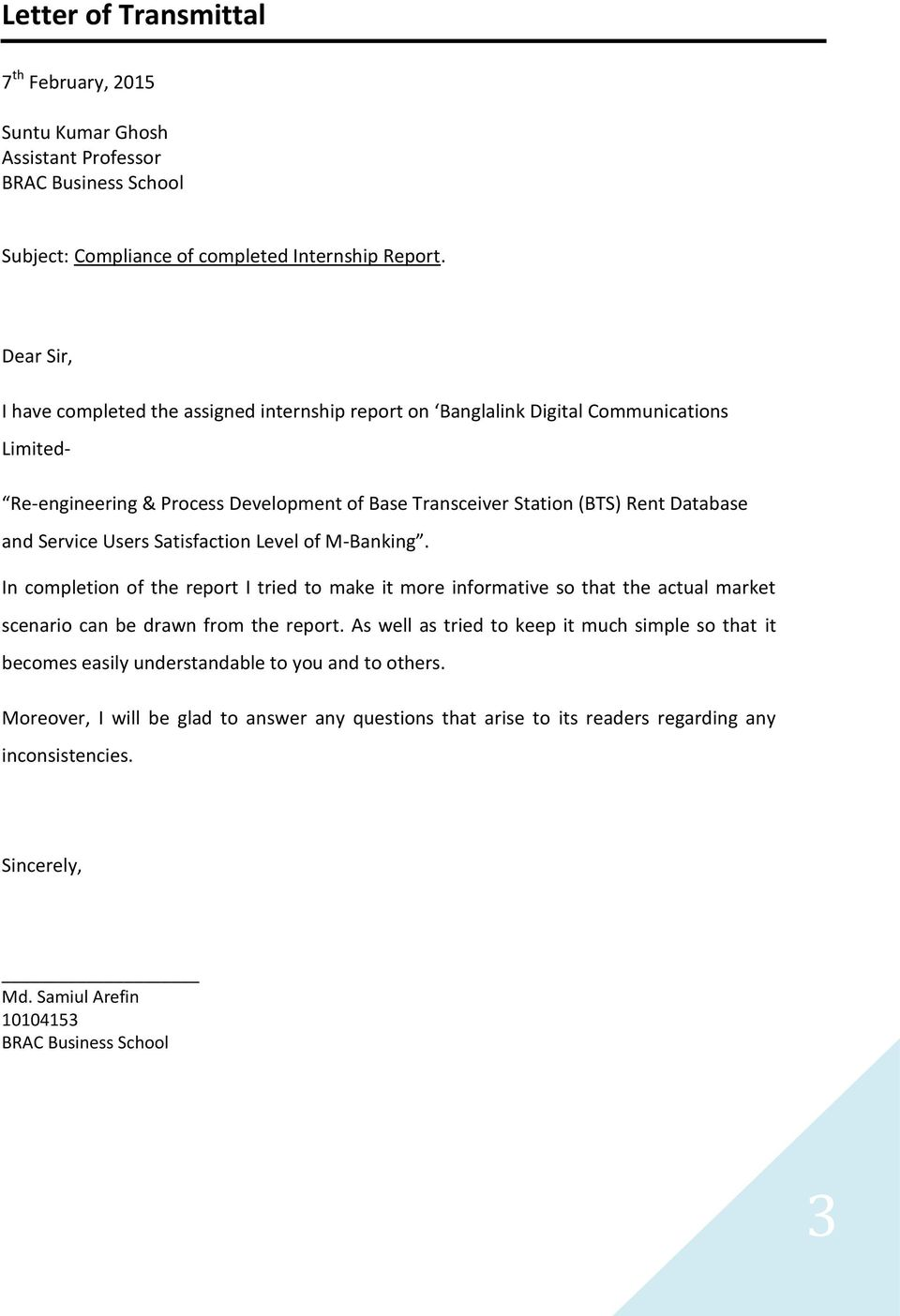 Internship report on banglalink telesales