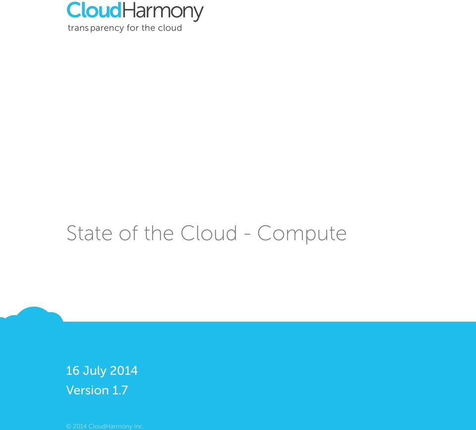 State of the Cloud -