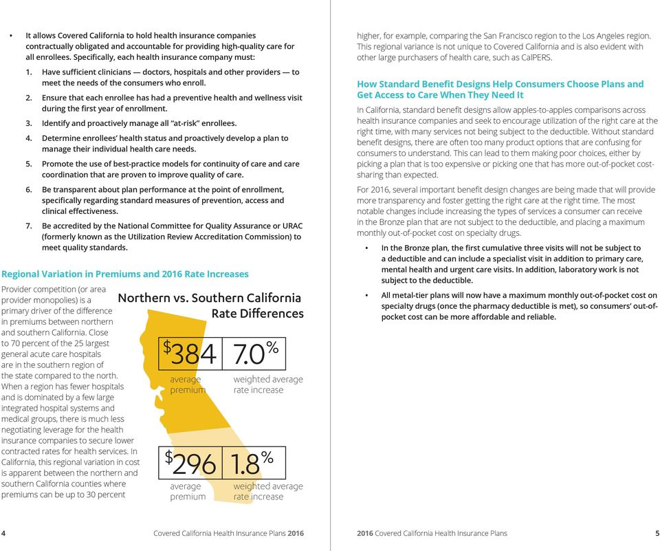 Ensure that each enrollee has had a preventive health and wellness visit during the first year of enrollment. 3. Identify and proactively manage all at-risk enrollees. 4.