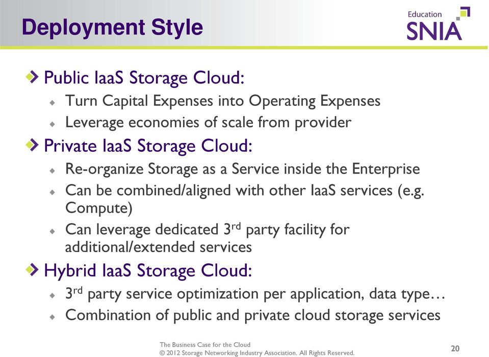 other IaaS services (e.g.