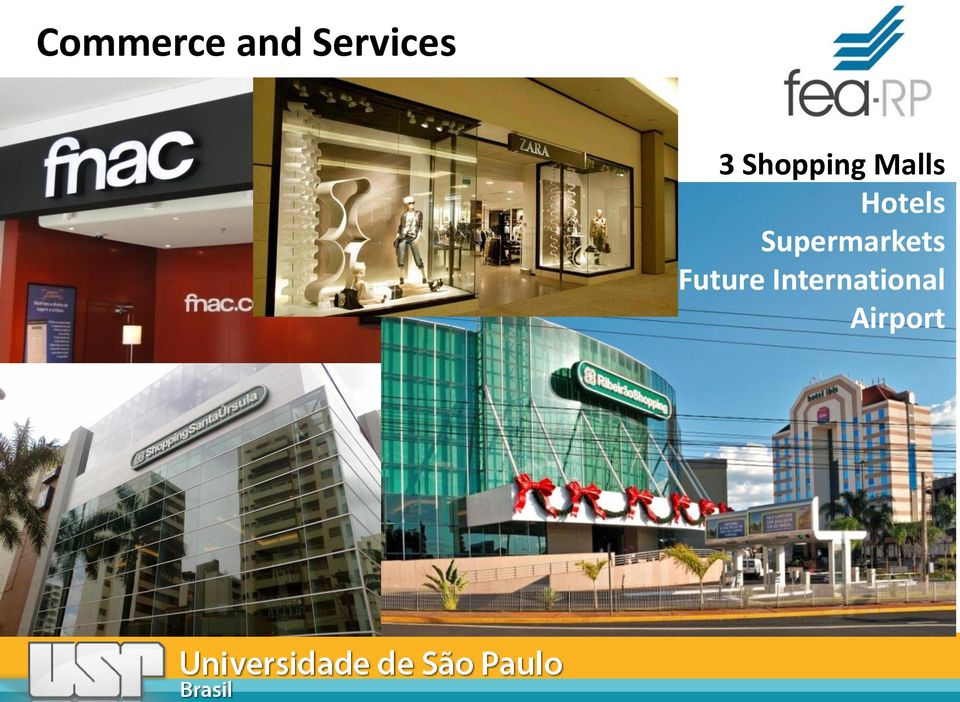 Malls Hotels Supermarkets