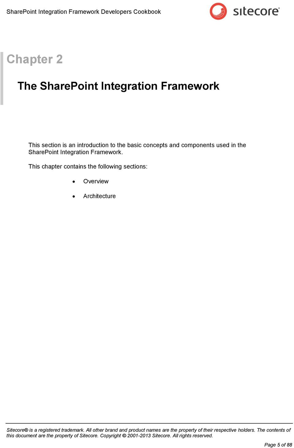 in the SharePoint Integration Framework.