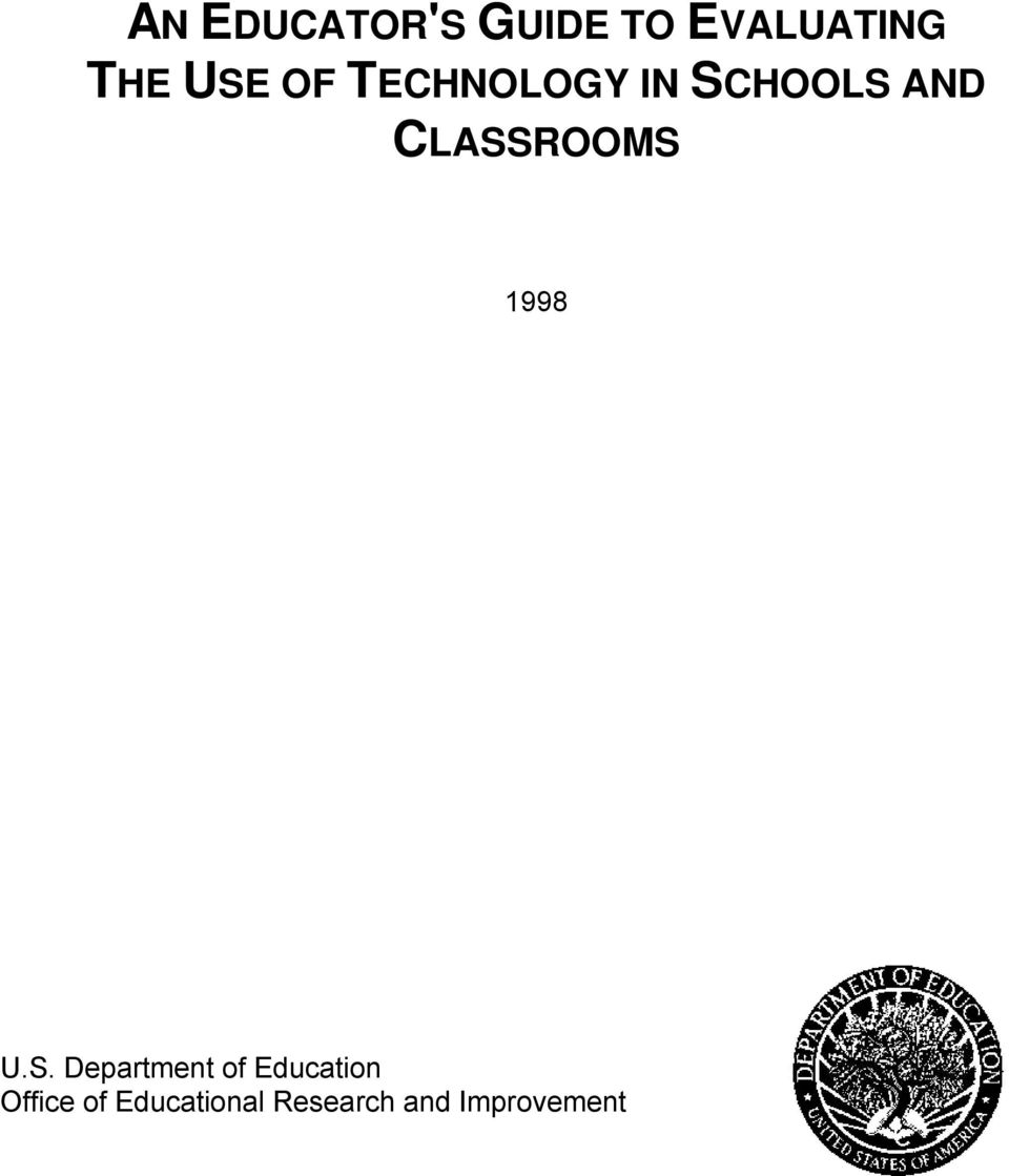 CLASSROOMS 1998 U.S. Department of