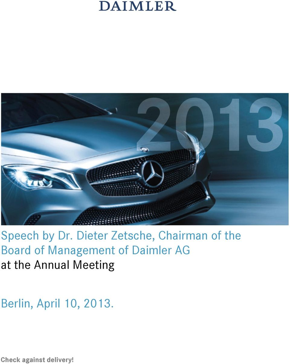 of Management of Daimler AG at the
