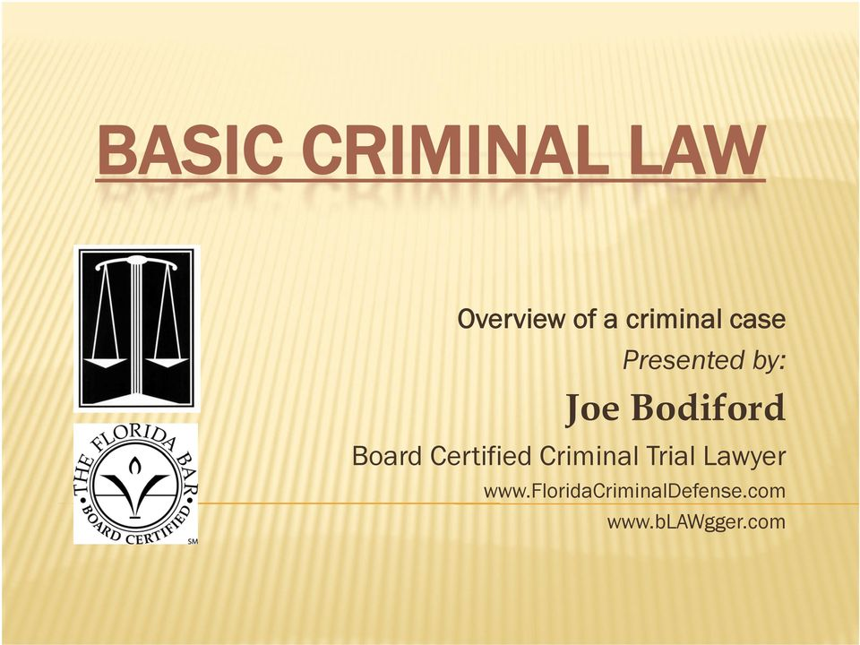 Bodiford Board Certified Criminal Trial