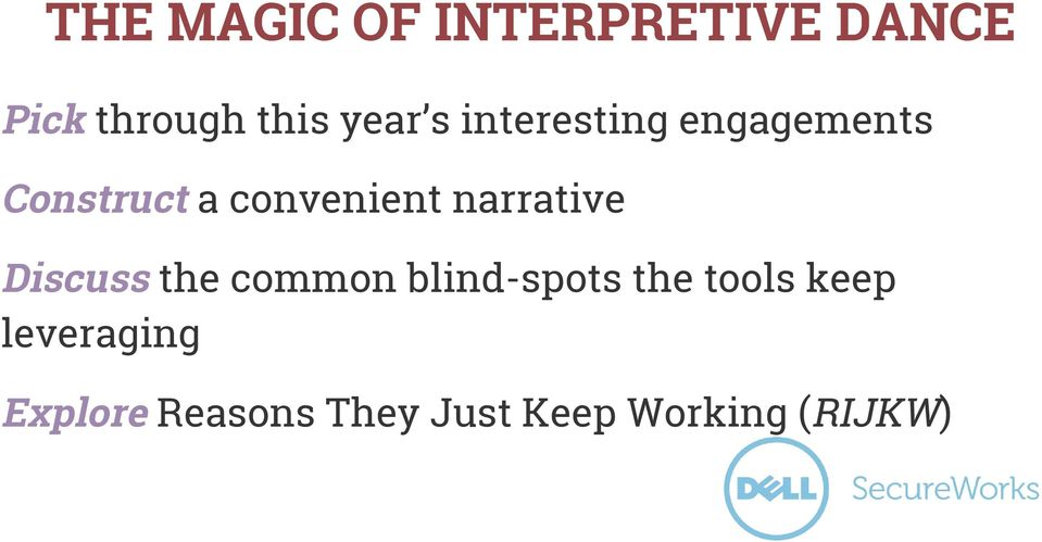 narrative Discuss the common blind-spots the tools