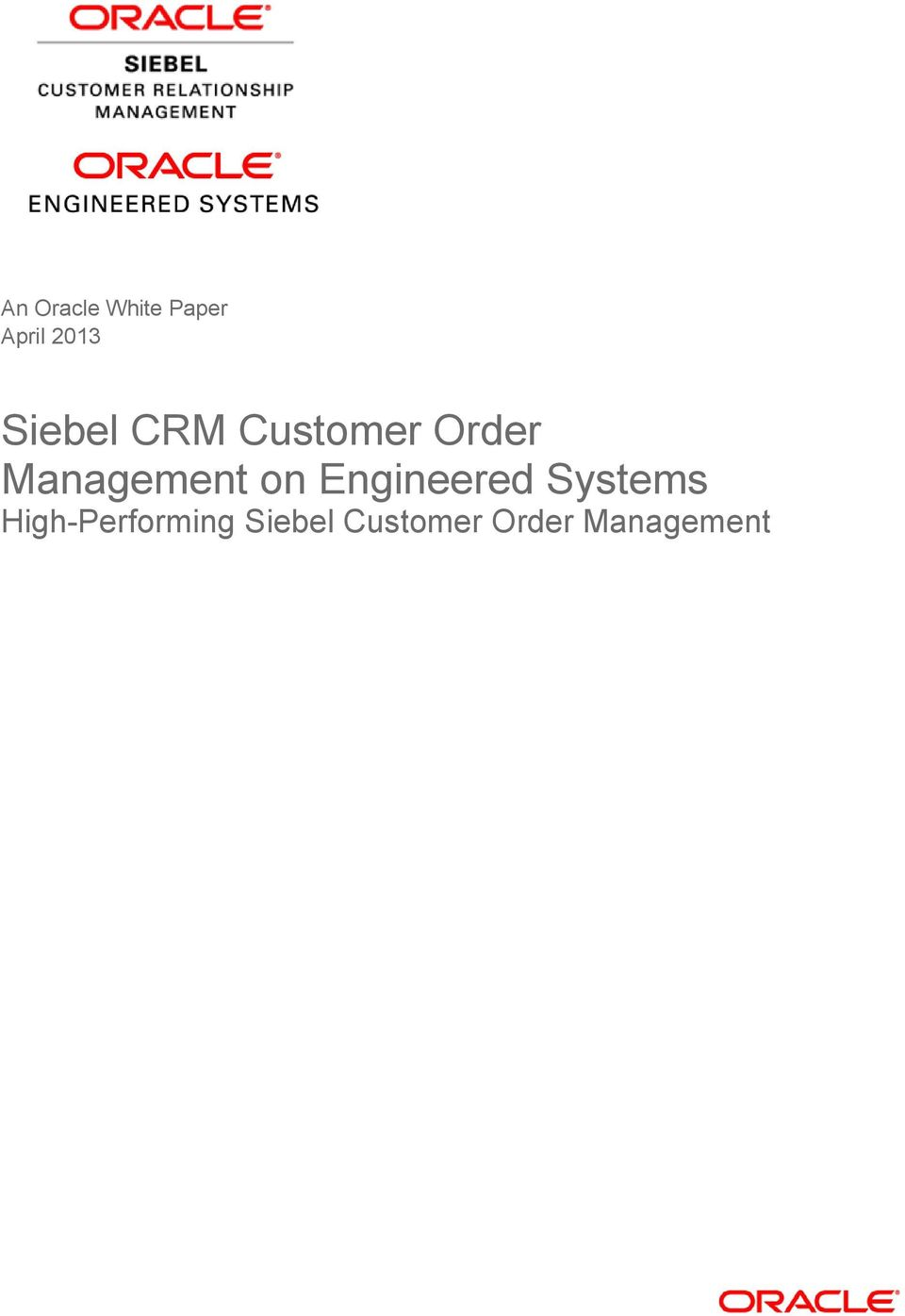 Management on Engineered Systems