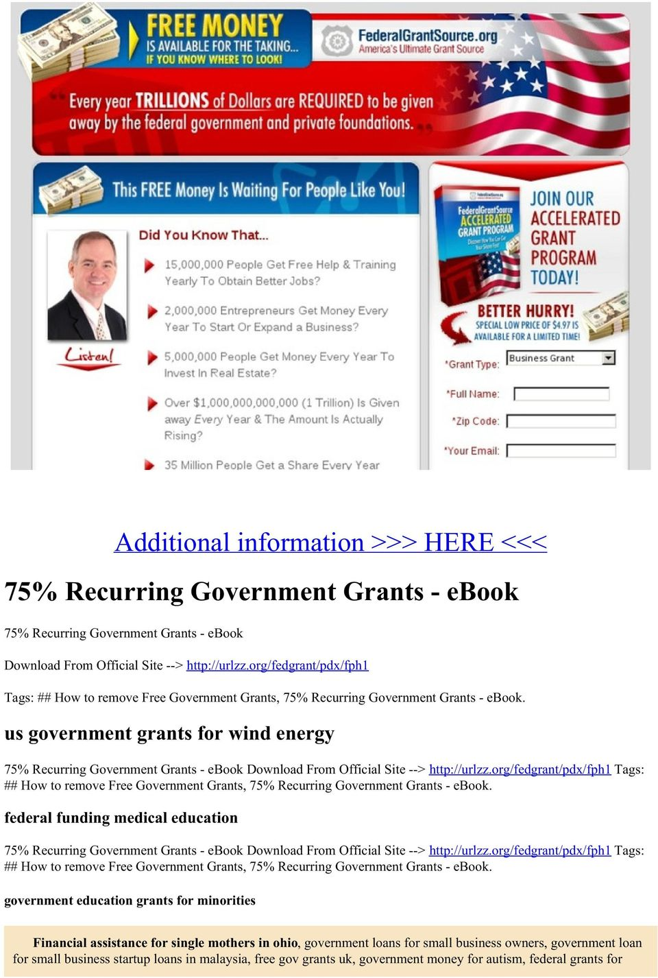 us government grants for wind energy 75% Recurring Government Grants - ebook Download From Official Site --> http://urlzz.