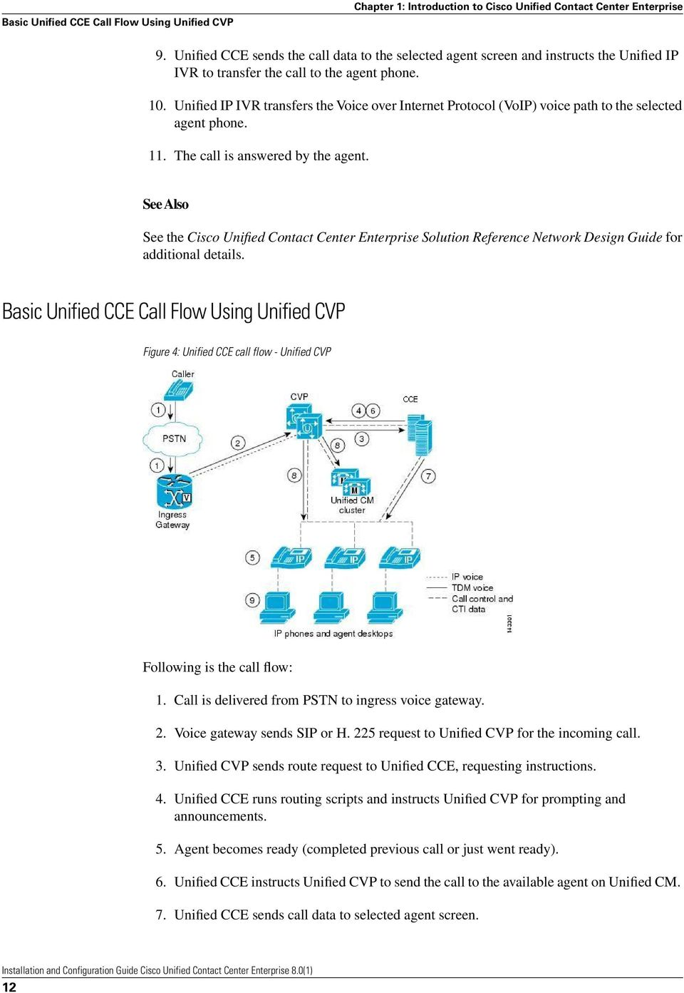Unified IP IVR transfers the Voice over Internet Protocol (VoIP) voice path to the selected agent phone. 11. The call is answered by the agent.