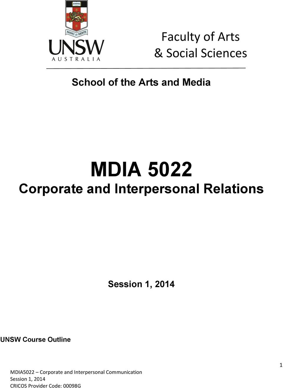 5022 Corporate and Interpersonal