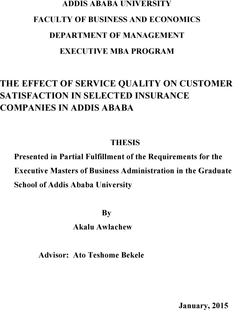 thesis on customer satisfaction in telecommunication an assessment of service quality on customer satisfaction a case essays and papers