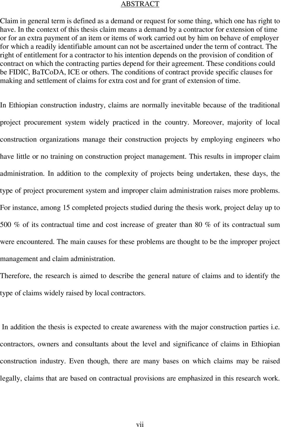 Claims in ethiopian construction industry pdf readily identifiable amount can not be ascertained under the term of contract fandeluxe Images