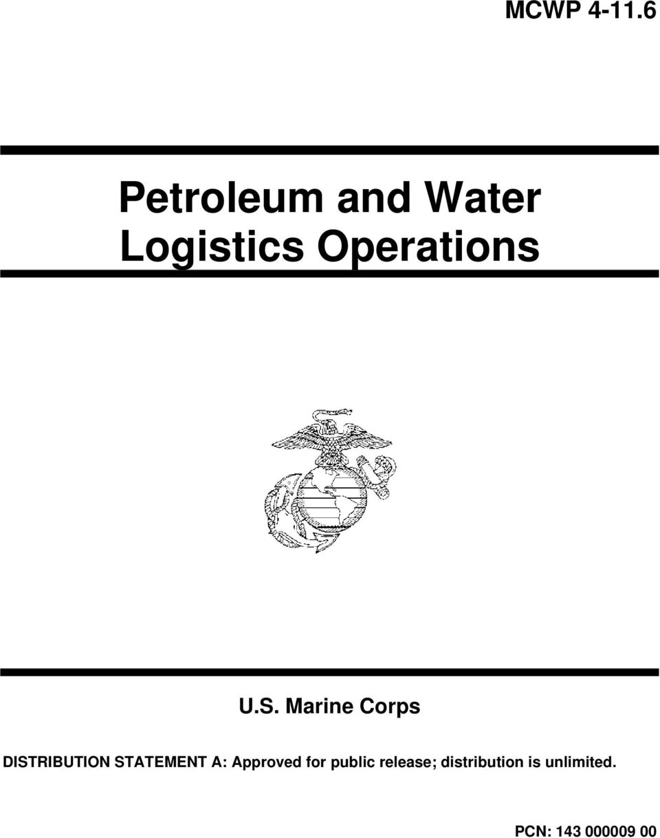 U.S. Marine Corps DISTRIBUTION STATEMENT