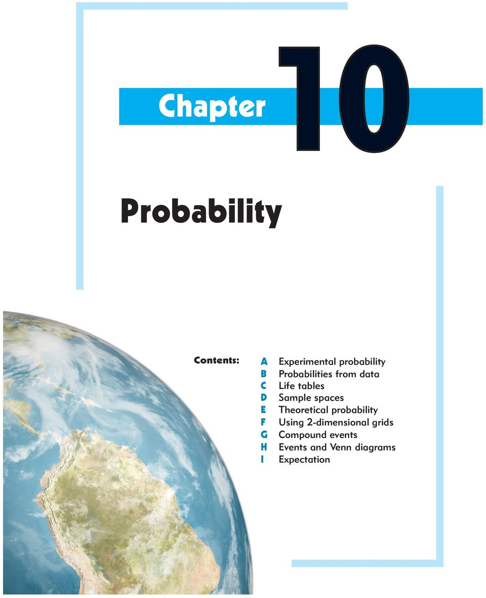 Chapter10 probability contents a experimental probability pdf theoretical proaility f using 2 dimensional grids g pooptronica Gallery