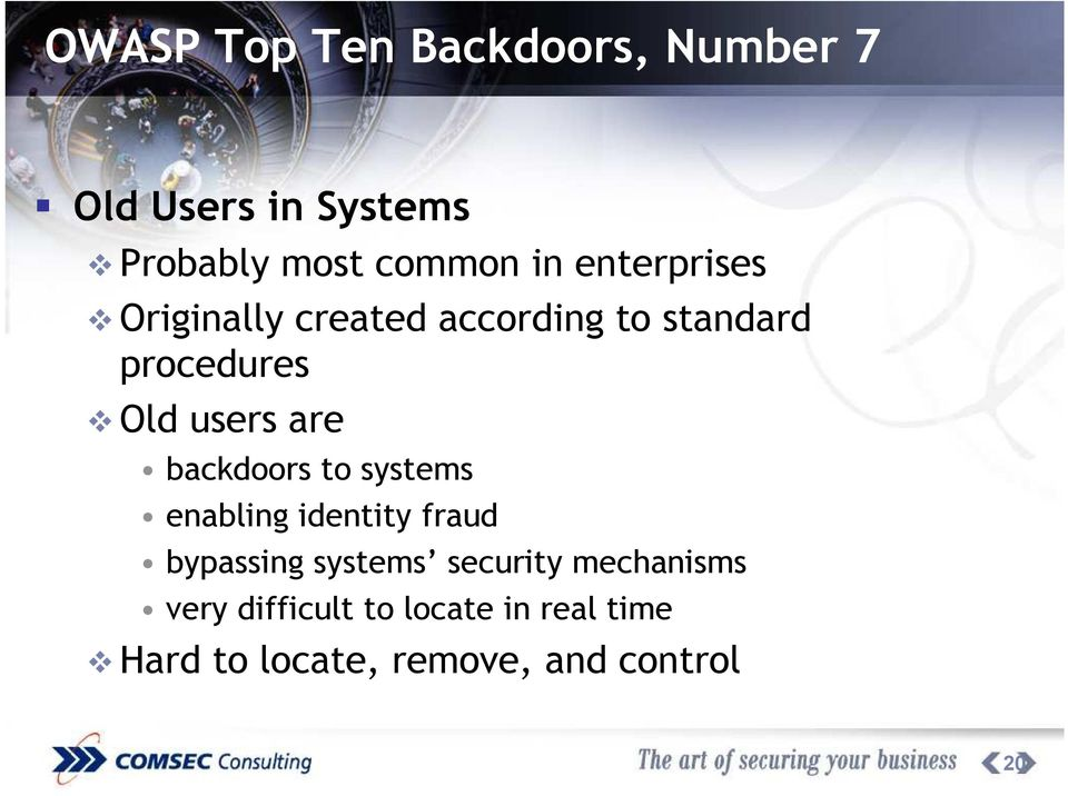 backdoors to systems enabling identity fraud bypassing systems security