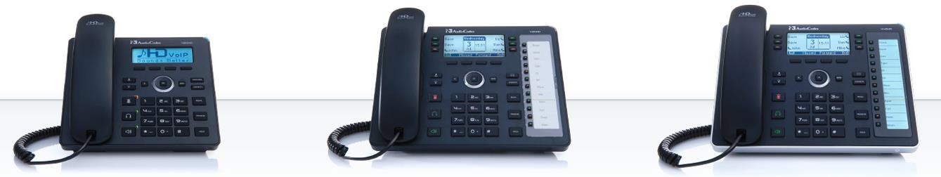 AudioCodes IP Phone Portfolio 400HD - complete range of Lync certified IP Phones (420HD, 430HD, 440HD) New generation of phones with a sleek design and enhanced presence monitoring support.