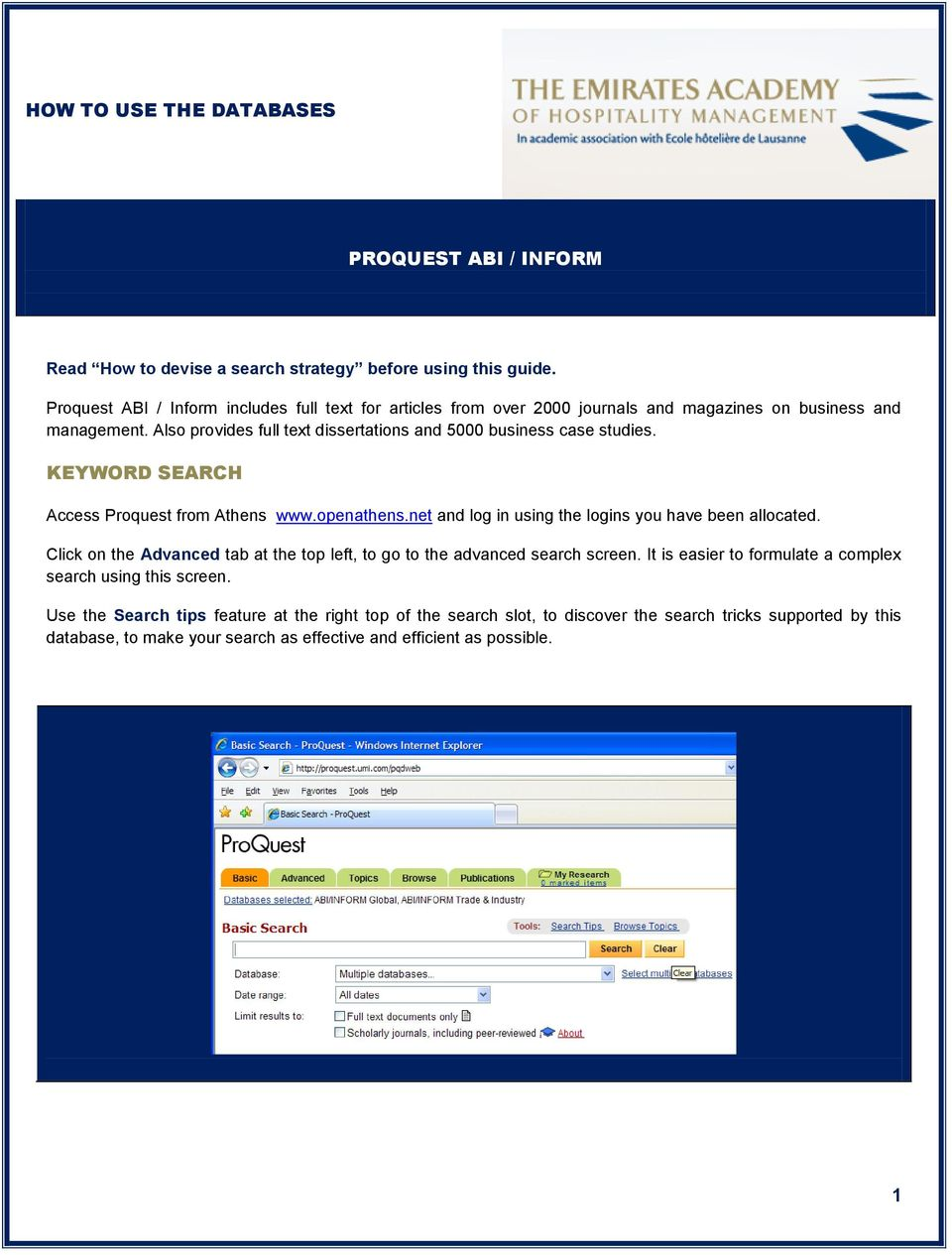 Proquest dissertation search www.search.proquest.com/index.html