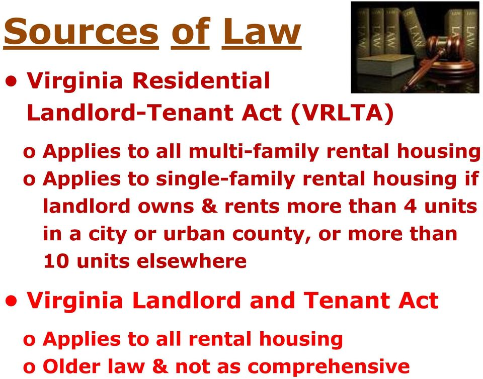 & rents more than 4 units in a city or urban county, or more than 10 units elsewhere