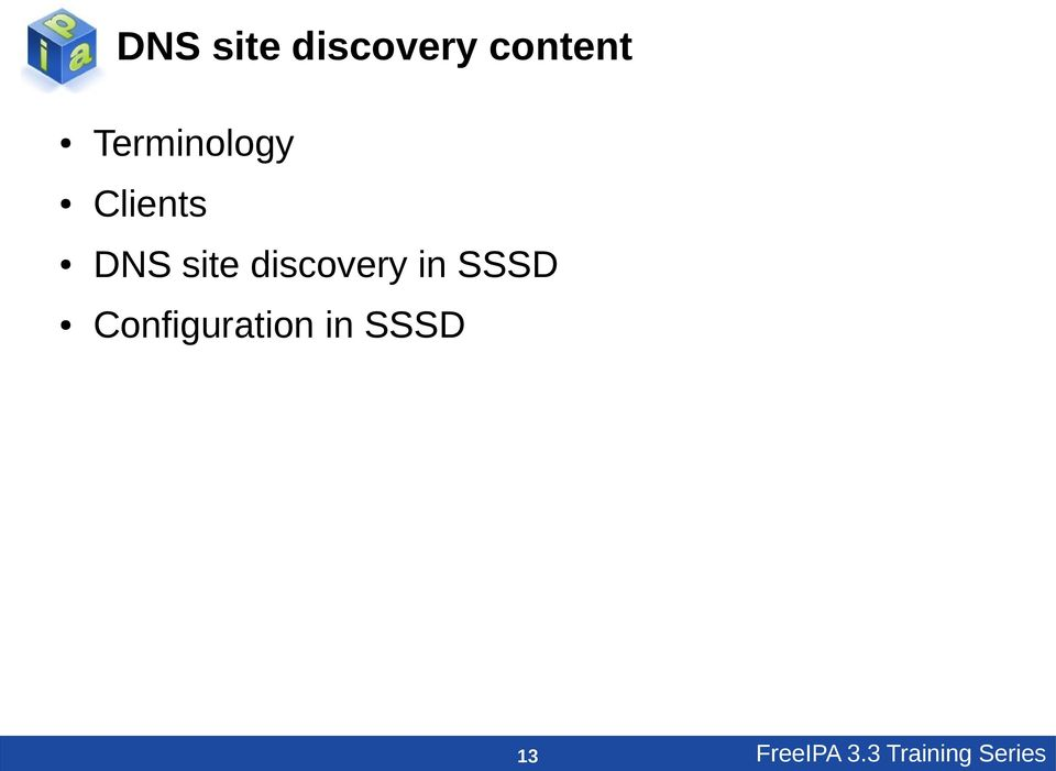 discovery in SSSD Configuration