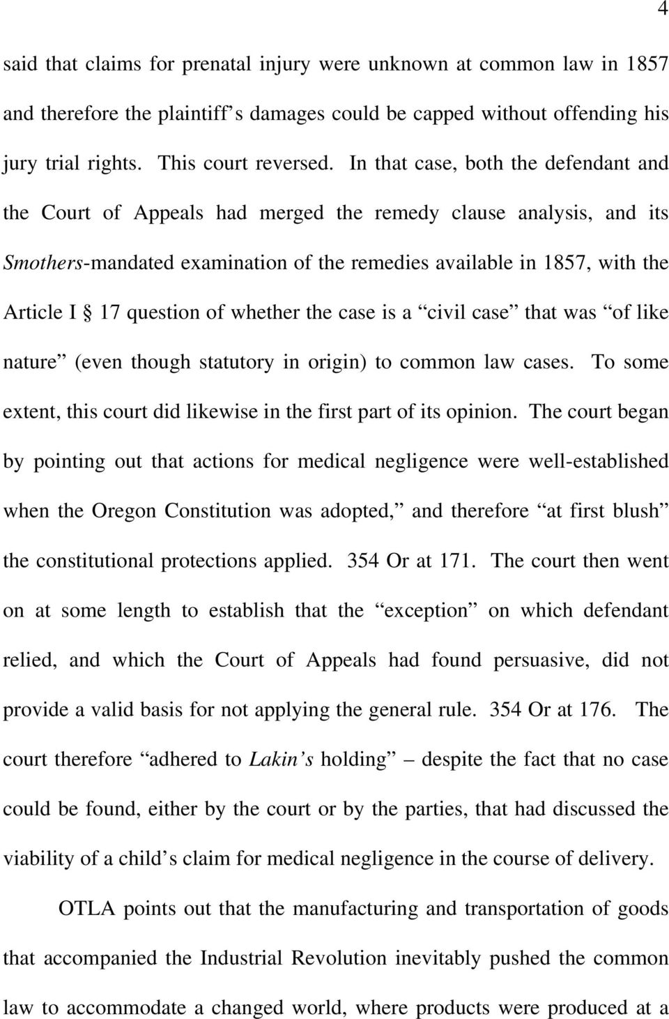 question of whether the case is a civil case that was of like nature (even though statutory in origin) to common law cases. To some extent, this court did likewise in the first part of its opinion.