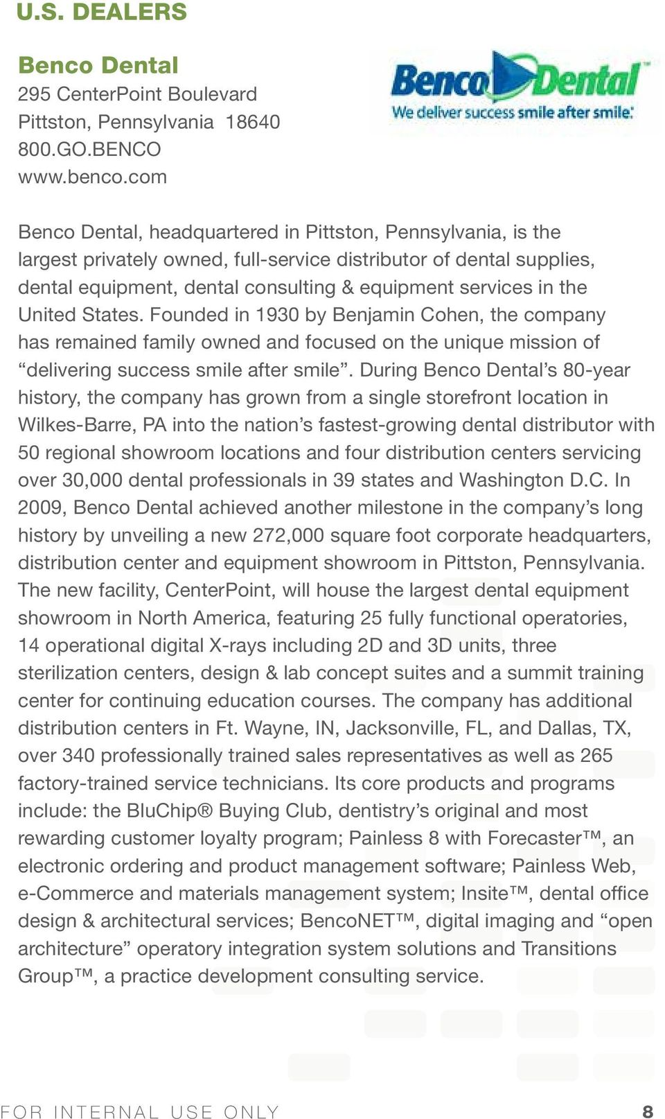 Kerr authorized dealer brochure pdf united states founded in 1930 by benjamin cohen the company has remained family owned fandeluxe Choice Image