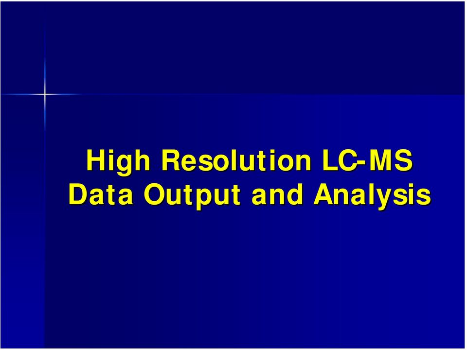 LC-MS Data