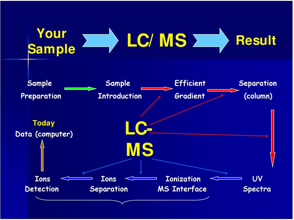 (column) Today Data (computer) LC- MS Ions