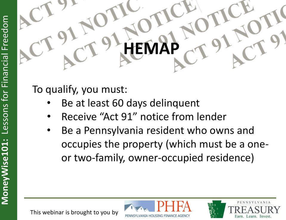 Pennsylvania resident who owns and occupies the