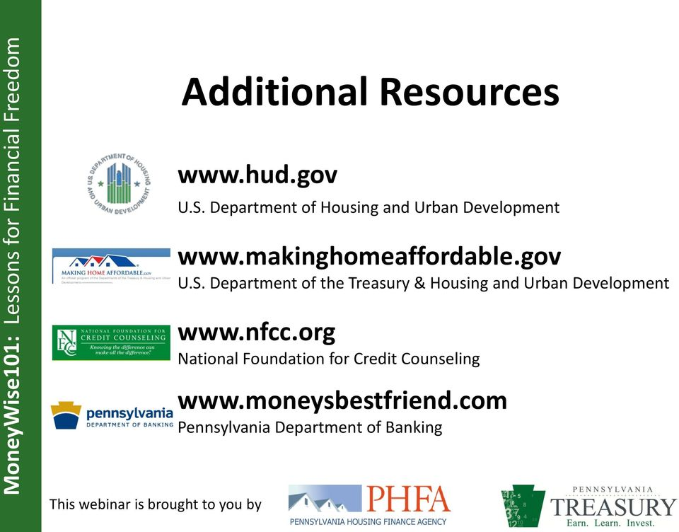 gov U.S. Department of the Treasury & Housing and Urban Development www.