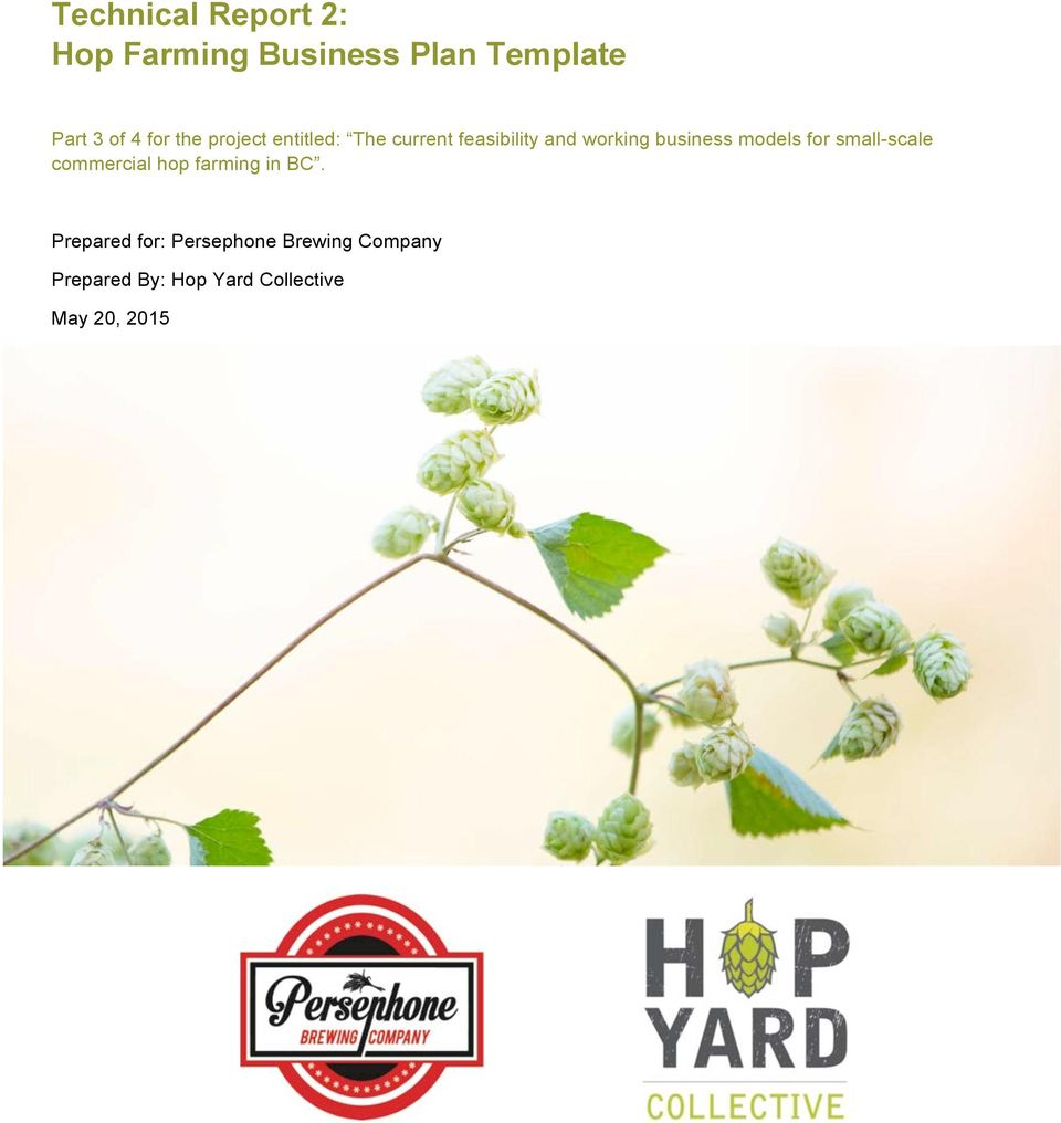 city agriculture business plan