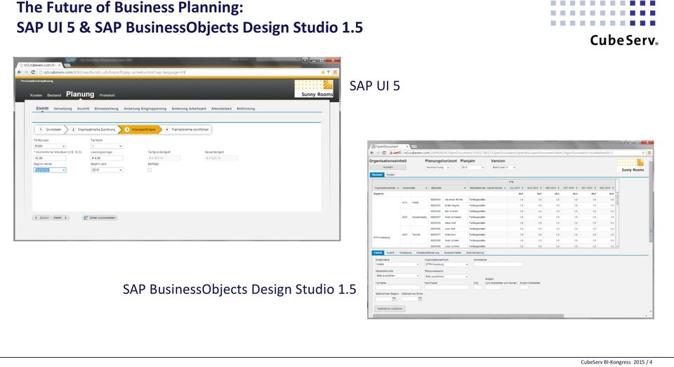 5 SAP UI 5 SAP BusinessObjects