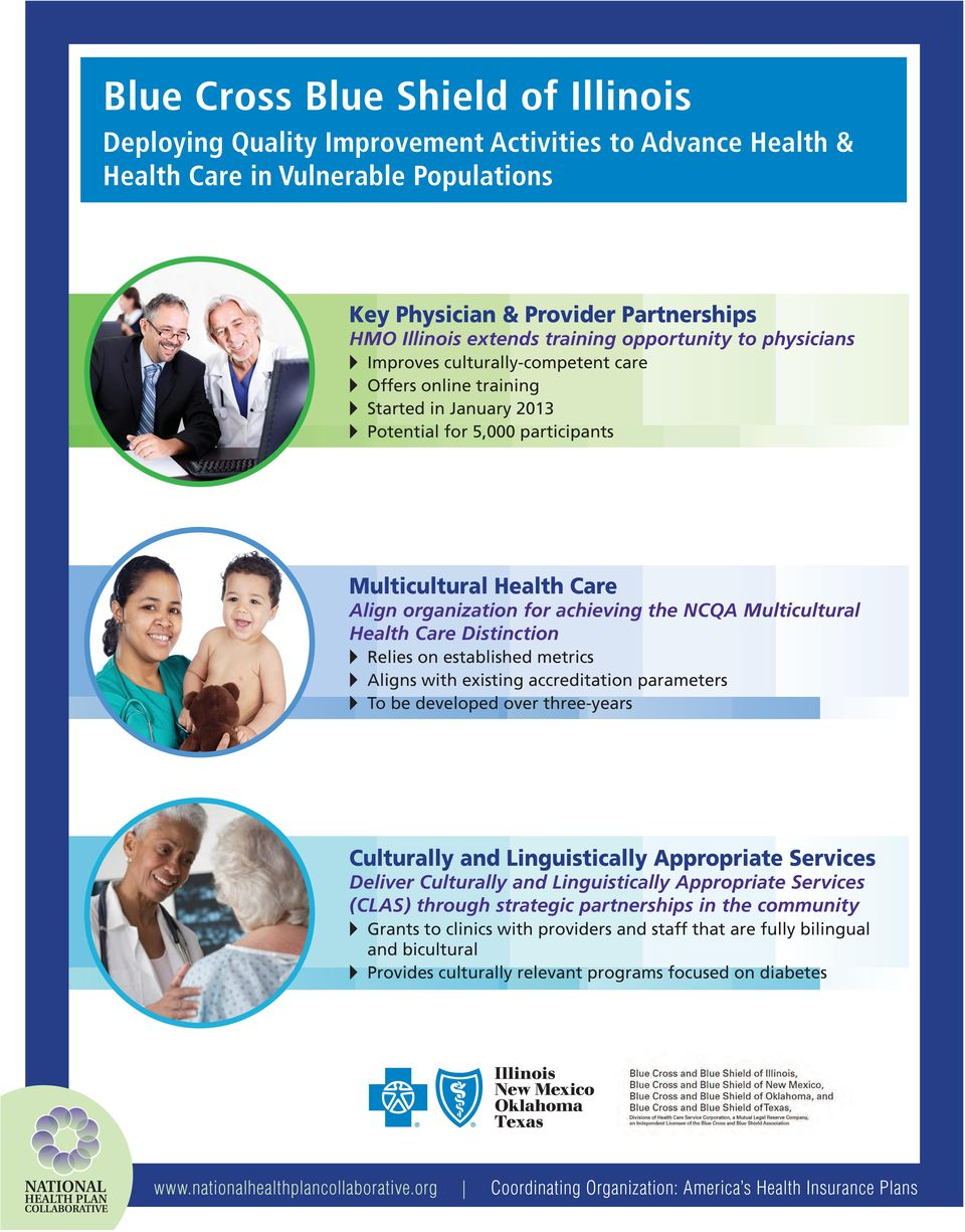 achieving the NCQA Multicultural Health Care Distinction Relies on established metrics Aligns with existing accreditation parameters To be developed over three-years Culturally and Linguistically