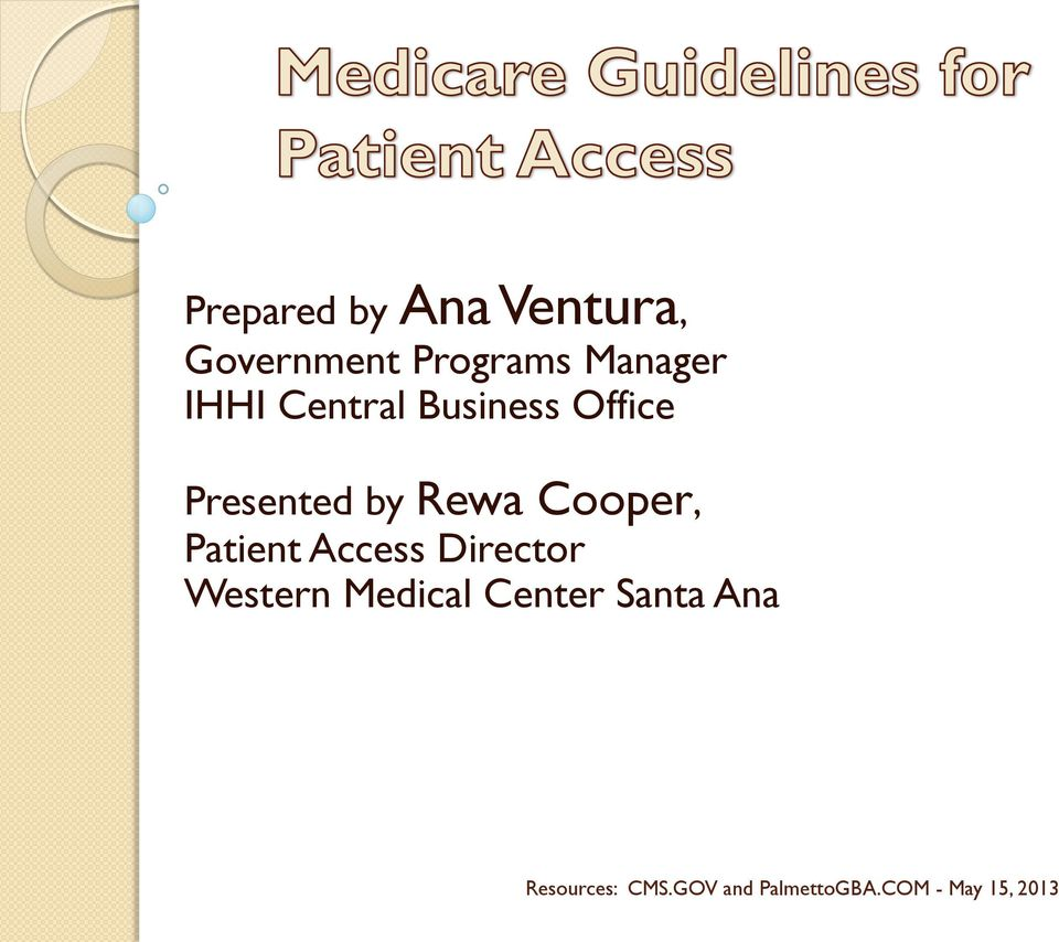 Patient Access Director Western Medical Center Santa