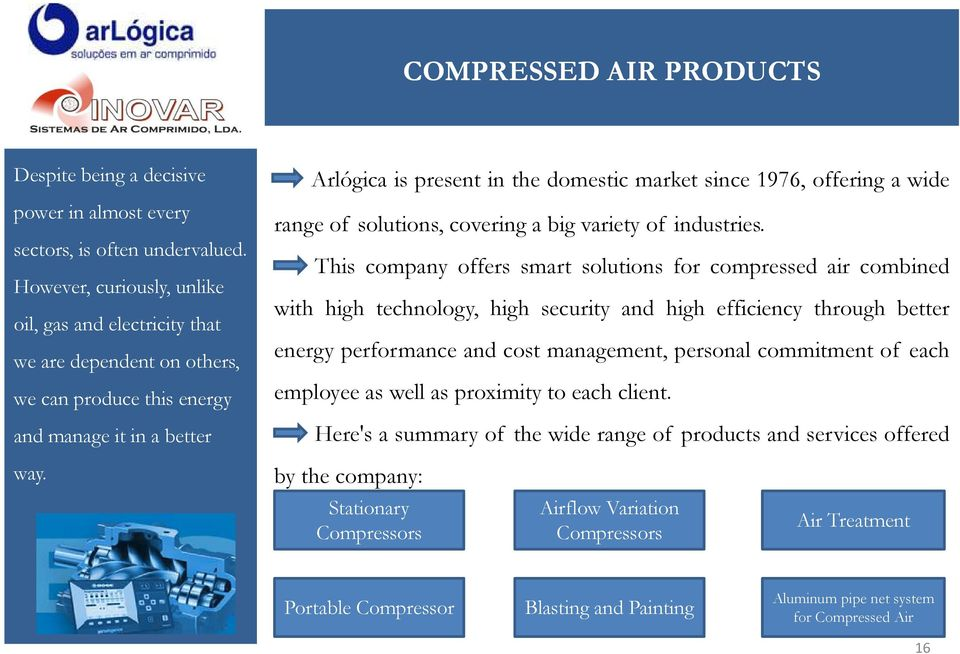 Arlógica is present in the domestic market since 1976, offering a wide range of solutions, covering a big variety of industries.