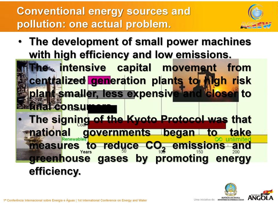 The intensive capital movement from centralized generation plants to high risk plant smaller, less expensive
