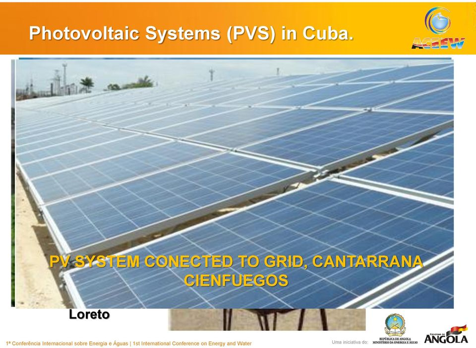 Solar Energy PV System installed Research at Center ECOSOL ENERGIA Fishing Cooperative La