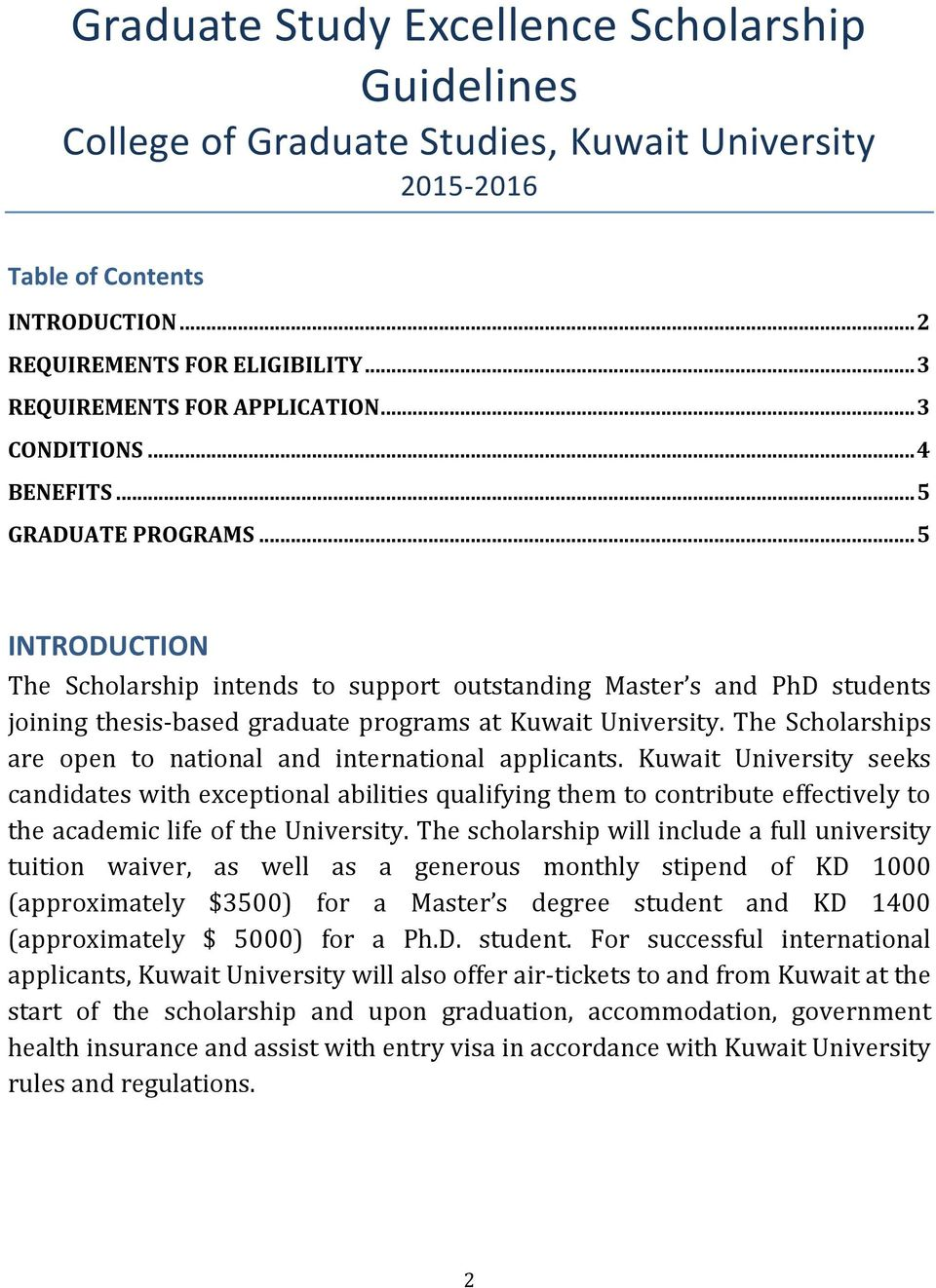 100 Great Scholarships for Master's Degree Programs