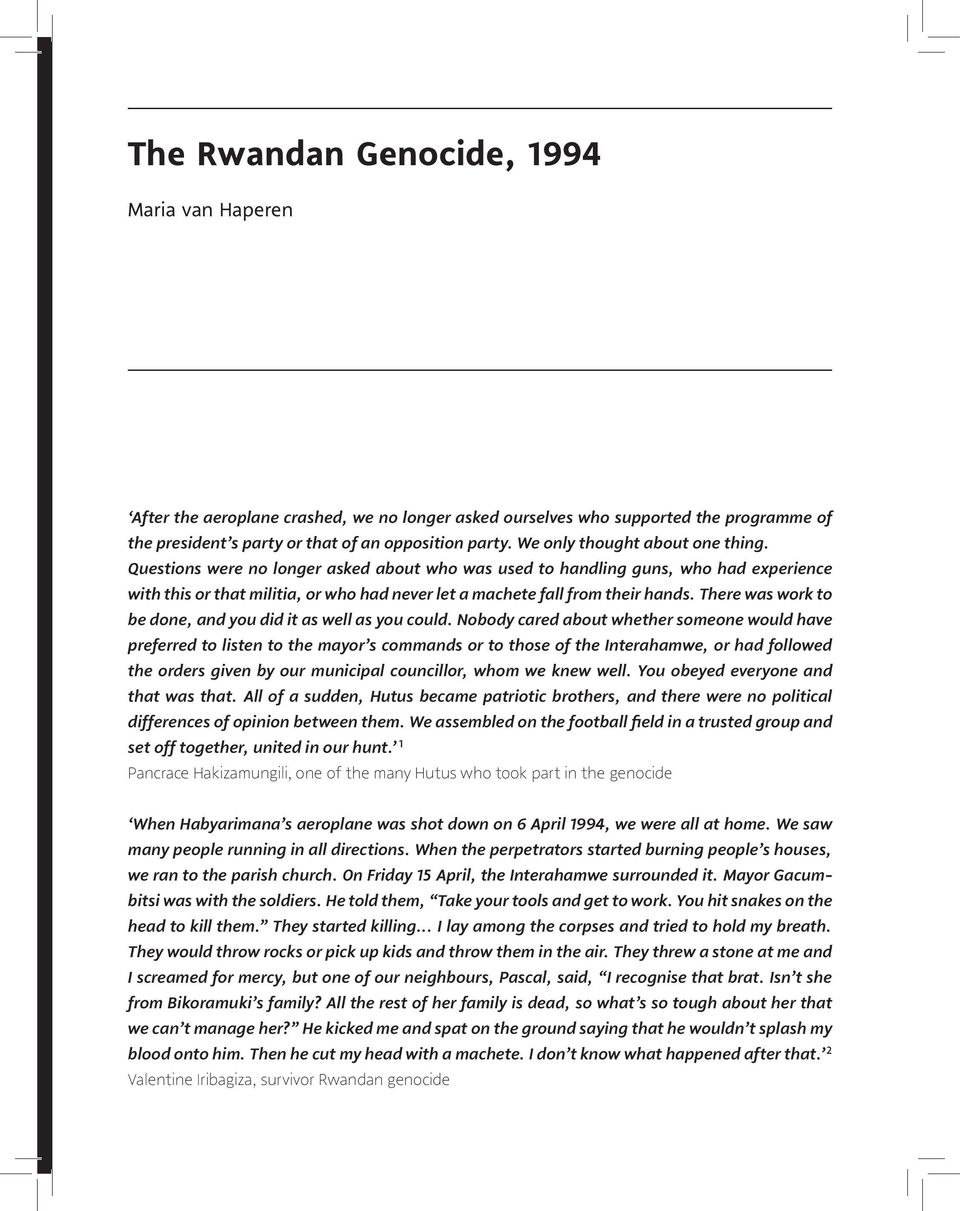 essay on genocide the life after the new yorker genocide  rwandan genocide homework help informative speech outline rwandan genocide purpose statement informative speech outline rwandan genocide