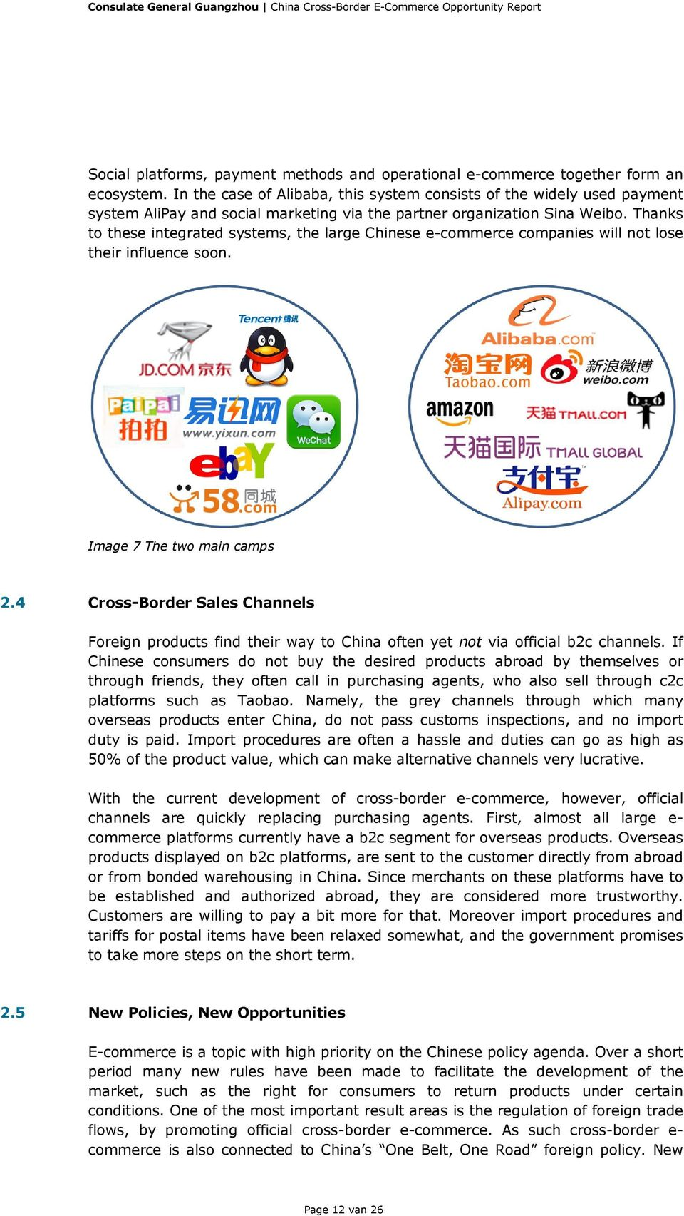 Thanks to these integrated systems, the large Chinese e-commerce companies will not lose their influence soon. Image 7 The two main camps 2.