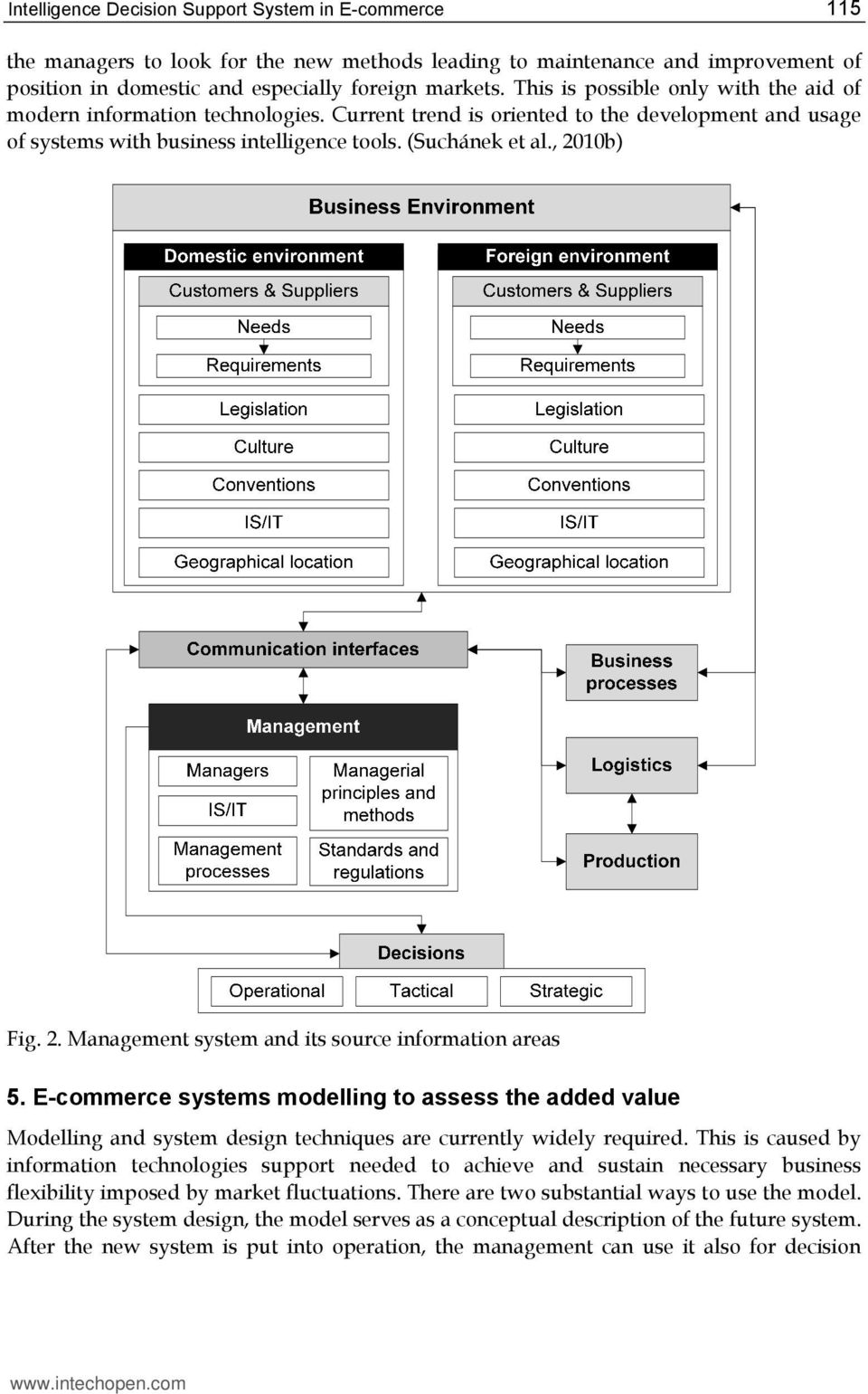 2. Management system and its source information areas 5. E-commerce systems modelling to assess the added value Modelling and system design techniques are currently widely required.