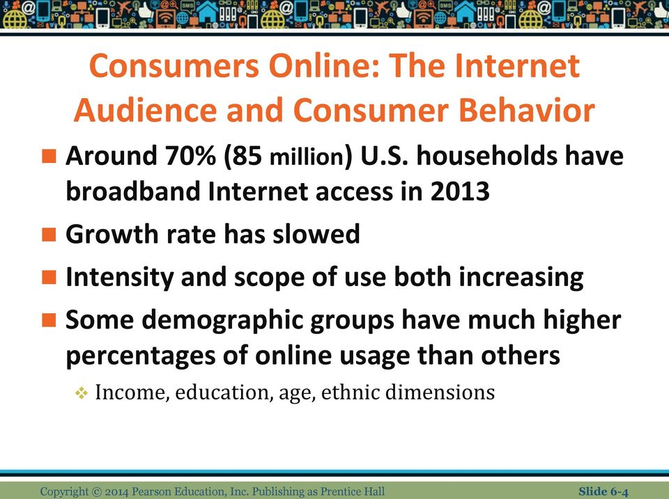 both increasing Some demographic groups have much higher percentages of online usage than others