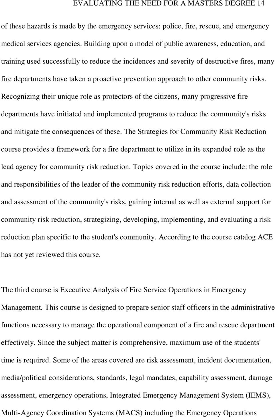 prevention approach to other community risks.