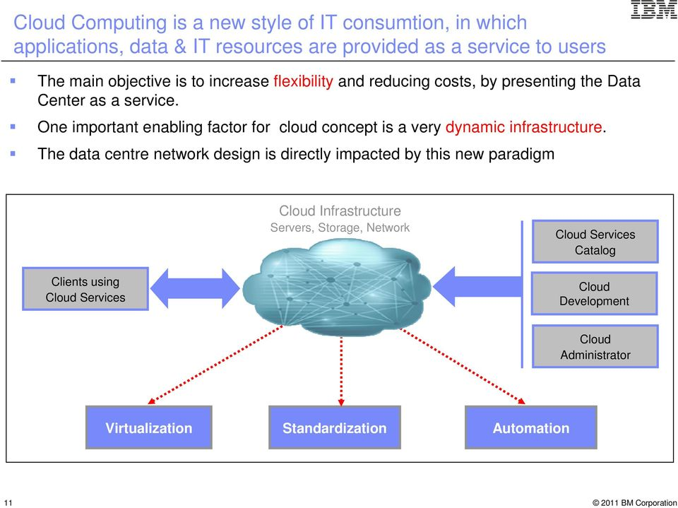 One important enabling factor for cloud concept is a very dynamic infrastructure.