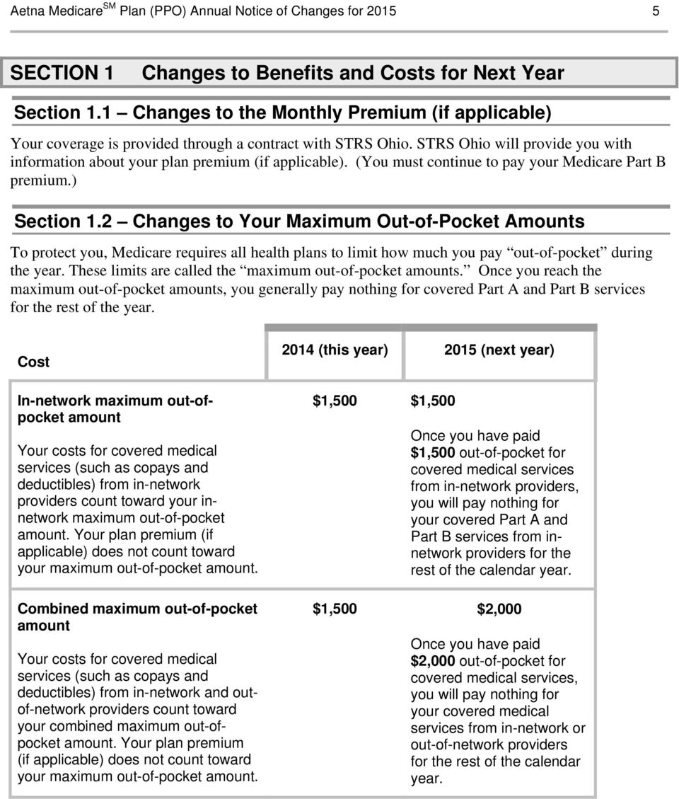 (You must continue to pay your Medicare Part B premium.) Section 1.