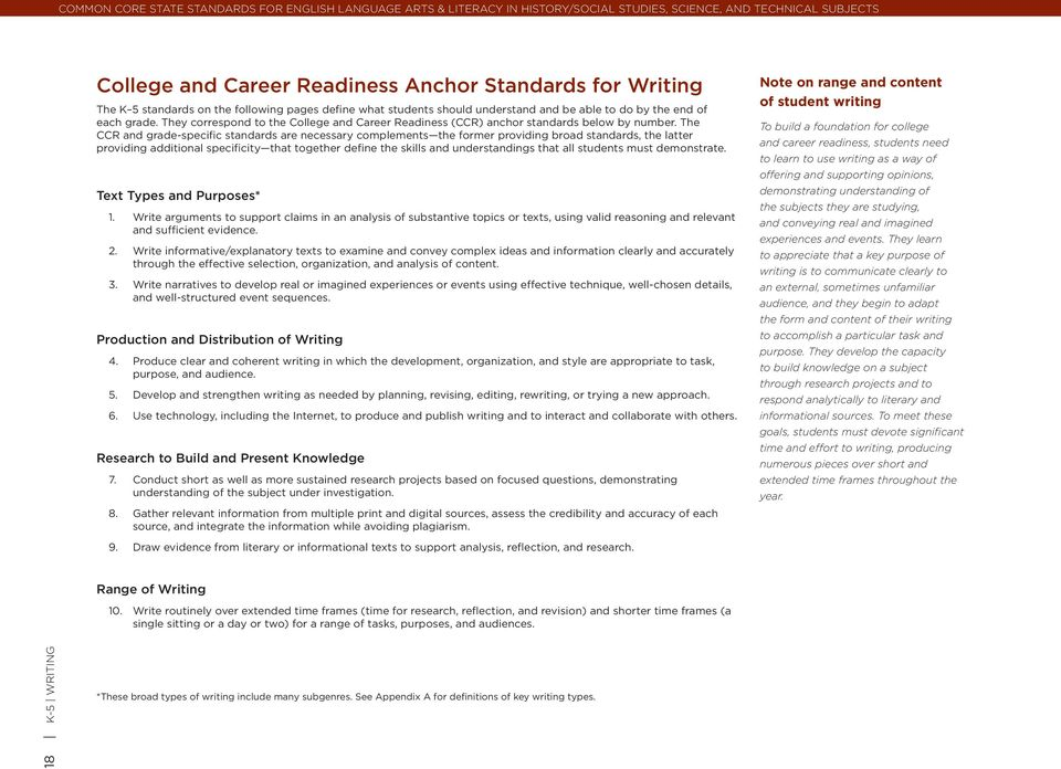 The CCR and grade-specific standards are necessary complements the former providing broad standards, the latter providing additional specificity that together define the skills and understandings